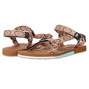 Muk Luks Sandals Sand Bar Ivory Multi Flats